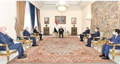 """الرئيس """"السيسي"""" يتابع مناقشة مستجدات عملية السلام والمسار التفاوضي للقضية الفلسطينية"""