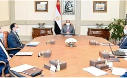 """الرئيس """"السيسي"""" يتابع استعراض مخطط المشروعات المستقبلية للمزارع السمكية"""