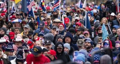 عاجل .. أنصار دونالد ترامب يحتشدون أمام الكونجرس