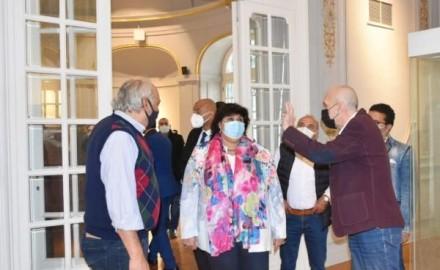 وزيرة الثقافة تتابع أعمال تطوير متحف «محمود خليل وحرمه»