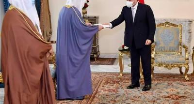 """الرئيس """"السيسي"""" يتلقى رسالة خطية من أخيه الشيخ """"نواف الأحمد الجابر الصباح"""" أمير دولة الكويت"""