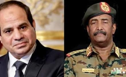 """الرئيس """"السيسي"""" يبحث هاتفياً مع """"رئيس المجلس الانتقالي السوداني"""" التعاون الثنائي بين البلدين"""