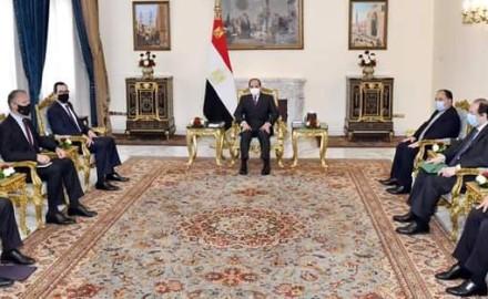 """الرئيس """"السيسي"""" يستقبل """"وزير الخزانة الأمريكي"""" لتعزيز العلاقات الثنائية بين البلدين"""