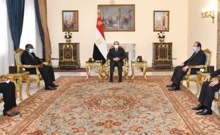 """الرئيس """"السيسي"""" يستقبل السفير """"أنان كاتو"""" لبحث العلاقات الثنائية بين البلدين"""