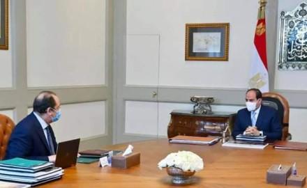 """الرئيس""""السيسي"""" يتابع آخر التطورات الخاصة بملفات الأمن القومي المصري"""