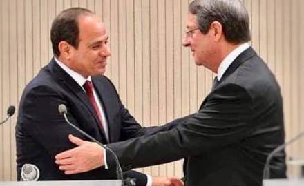 """الرئيس """"السيسي"""" يتشاور هاتفياً مع نظيره القبرصي بشأن العلاقات الثنائية والقضايا الاقليمية في شرق المتوسط"""