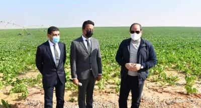 """الرئيس """"السيسي"""" يتفقد مشروع مستقبل مصر للإنتاج الزراعي باستصلاح ٥٠٠ الف فدان"""