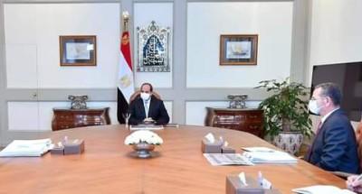 """الرئيس """"السيسي"""" يتابع الموقف التنفيذي لعدد من المشروعات القومية المتعلقة بتطوير الأراضي"""