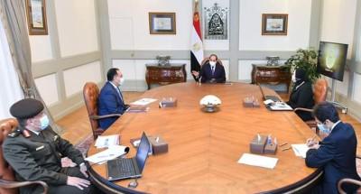 """الرئيس """"السيسي"""" يتابع الموقف التنفيذي لمدينة الجلود بالروبيكى"""