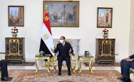 """الرئيس""""السيسي"""" يستقبل """"وزير خارجية فرنسا"""" لمتابعة العلاقات الثنائية بين البلدين"""