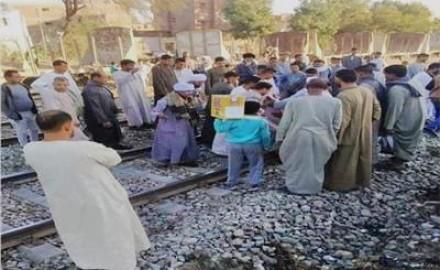 مصرع شخص صدمه قطار ببني مزار شمال المنيا