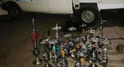 مصادرة 35 شيشة في حملات على المقاهي بالشرقية