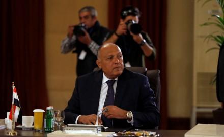 """""""سامح شكري"""": هدفنا استئناف المفاوضات للوصول لحل عادل تجاه القضية الفلسطينية"""
