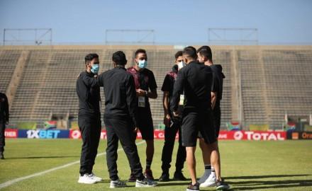 ابطال أفريقيا| بعثة الأهلي تصل استاد لوكاس موريبي لخوض مباراة صن داونز