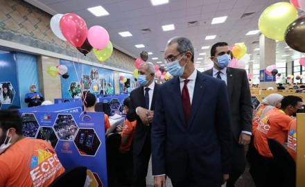 وزير الاتصالات يشهد ختام فعاليات مسابقة البرمجيات لطلاب الجامعات