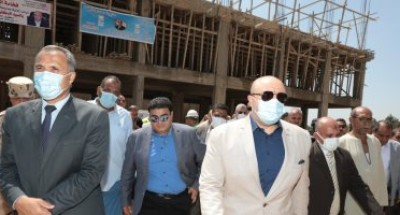 """محافظ بنى سويف يواصل متابعاته الميدانية لمشروعات مبادرة """"حياة كريمة"""""""