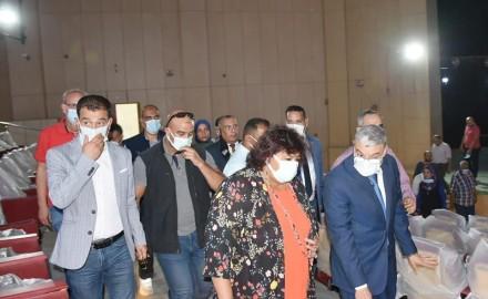 وزيرة الثقافة ومحافظ المنيا يتفقدان أعمال تطوير ورفع كفاءة مسرح قصر الثقافة استعدادا لافتتاحه