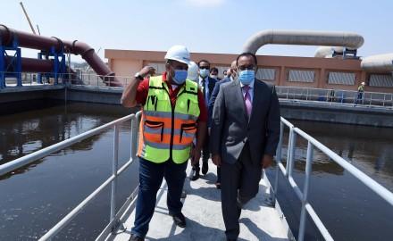 وزير الإسكان: المحطة تخدم 9 ملايين نسمة وتصل طاقتها بعد إتمام مشروع التوسعات الجاري