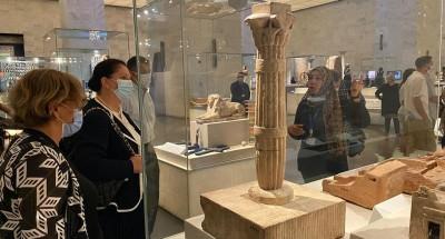 المتحف القومي يستقبل الأمين العام المساعد للأمم المتحدة والوفد المرافق لها