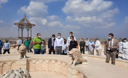 جولة تفقدية لوزير السياحة والآثار بقلعة صلاح الدين الأيوبي