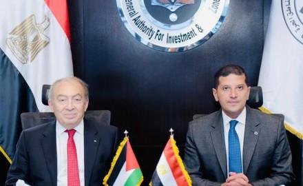 جهود تفعيل التعاون المشترك بين الرئيس التنفيذي للهيئة العامة للاستثمار ووزير الاقتصاد الفلسطيني