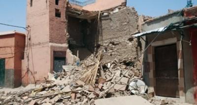 4 أشخاص أصيبوا بكدمات وجروح نتيجة انهيار عقار مكون من 4 طوابق بمصر القديمة